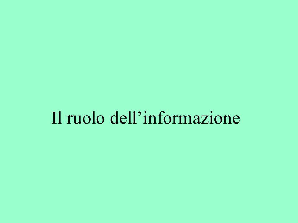 Il ruolo dell'informazione