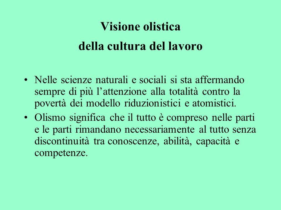 Visione olistica della cultura del lavoro