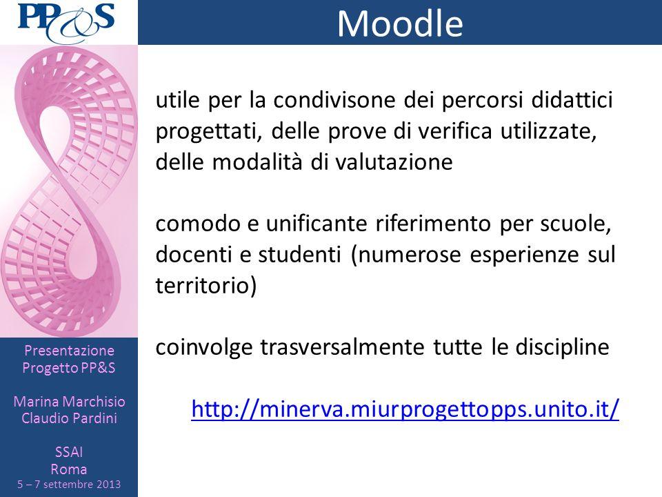 Moodle utile per la condivisone dei percorsi didattici progettati, delle prove di verifica utilizzate, delle modalità di valutazione.