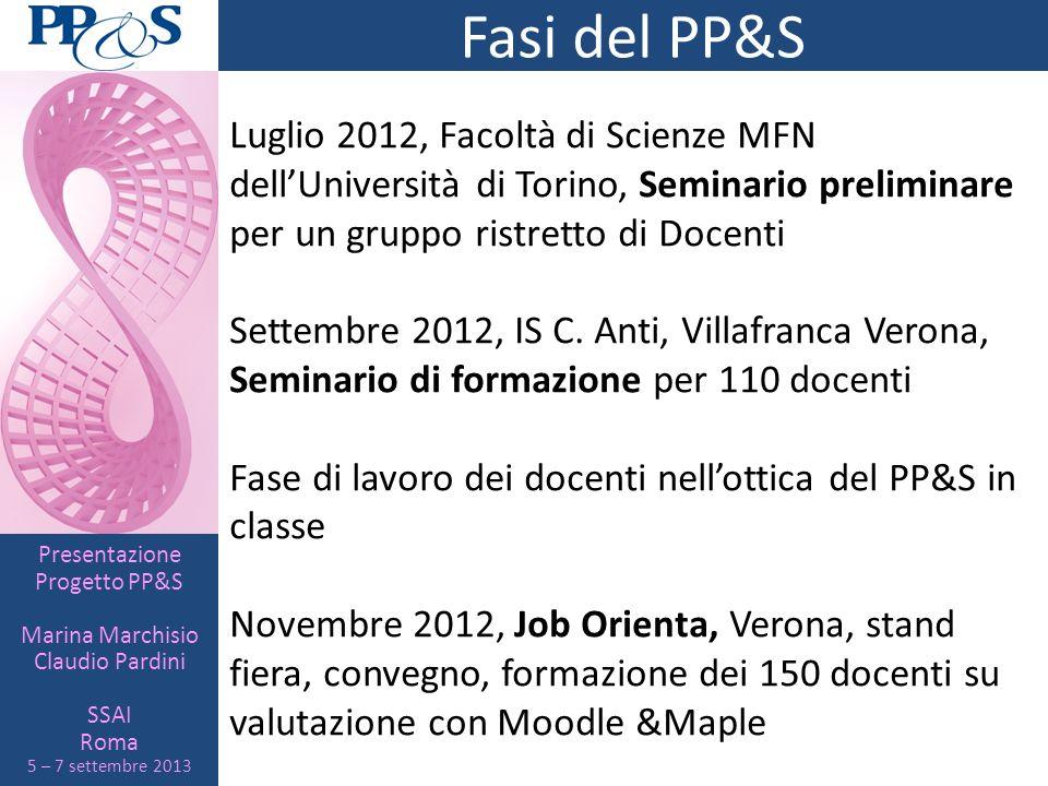 Fasi del PP&SLuglio 2012, Facoltà di Scienze MFN dell'Università di Torino, Seminario preliminare per un gruppo ristretto di Docenti.