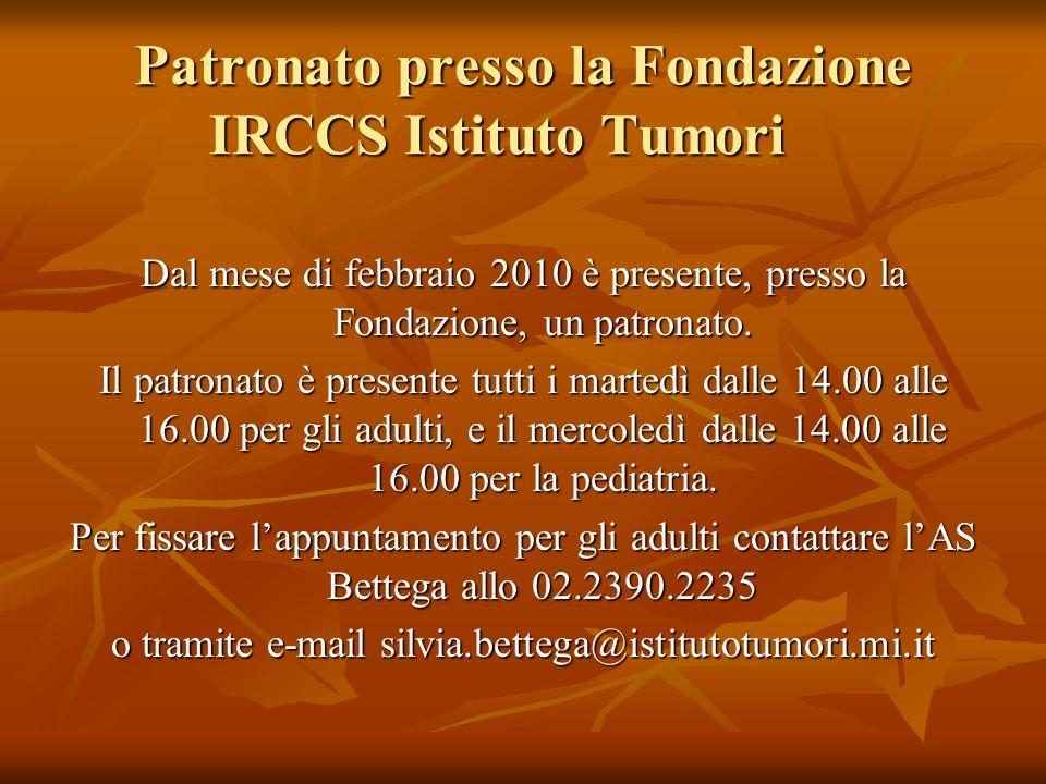 Patronato presso la Fondazione IRCCS Istituto Tumori