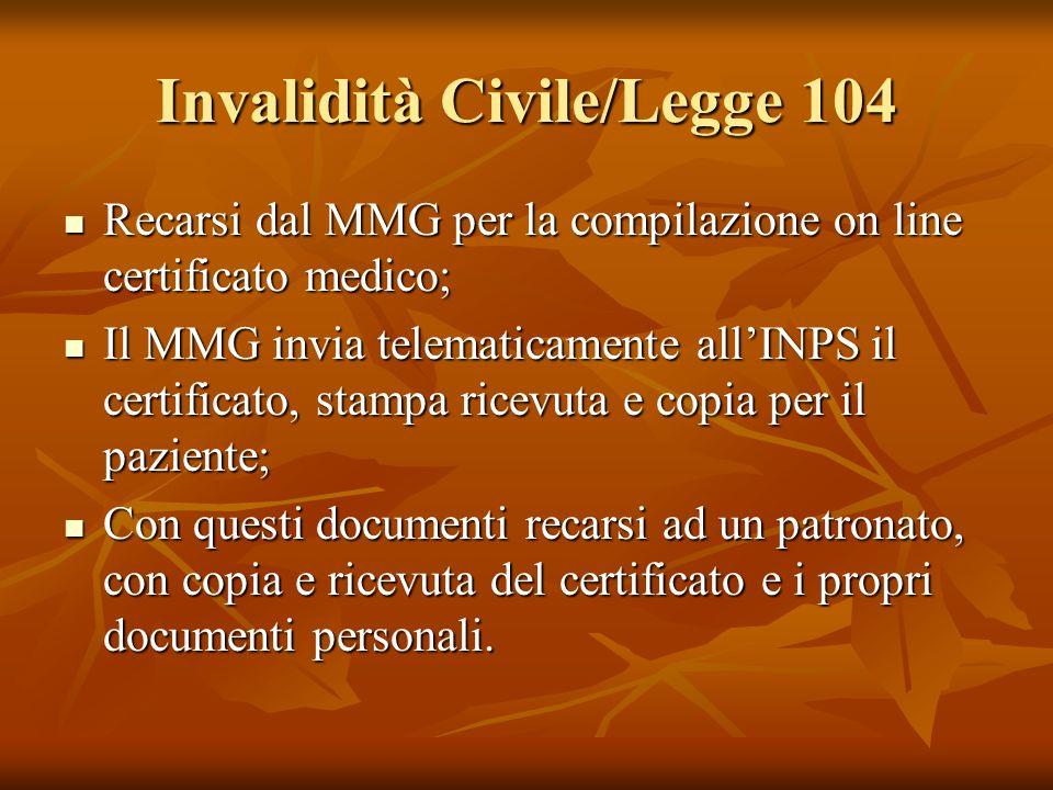 Invalidità Civile/Legge 104