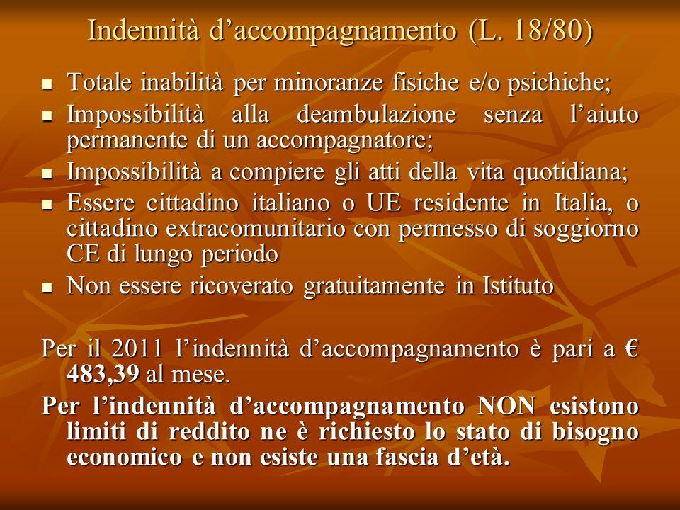 Indennità d'accompagnamento (L. 18/80)