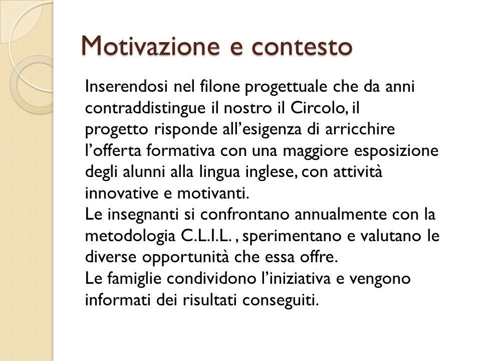 Motivazione e contesto