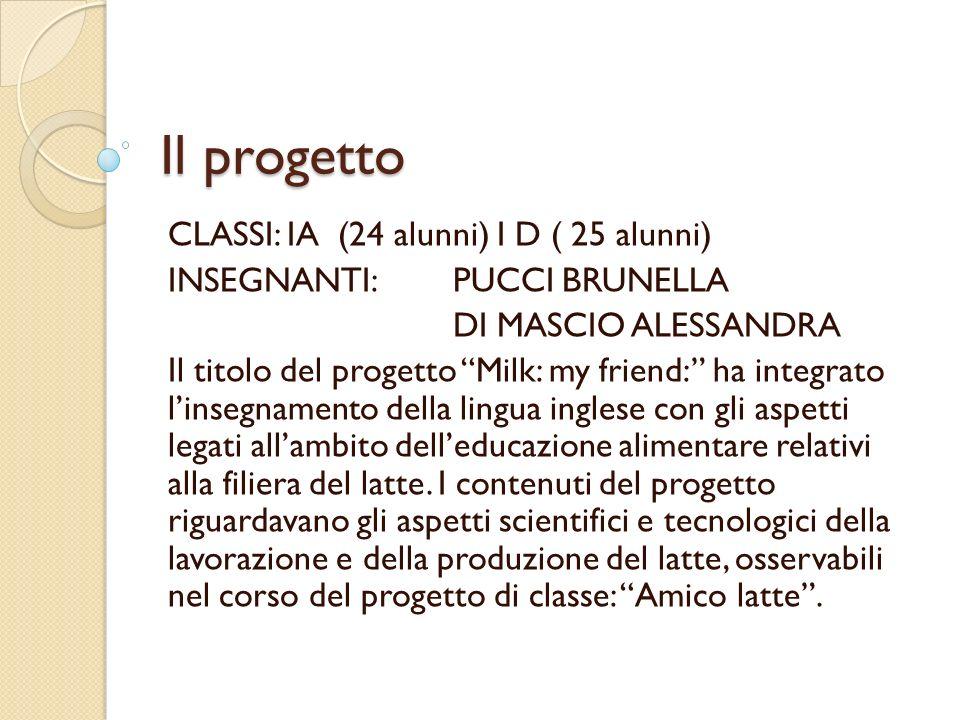Il progetto CLASSI: IA (24 alunni) I D ( 25 alunni)