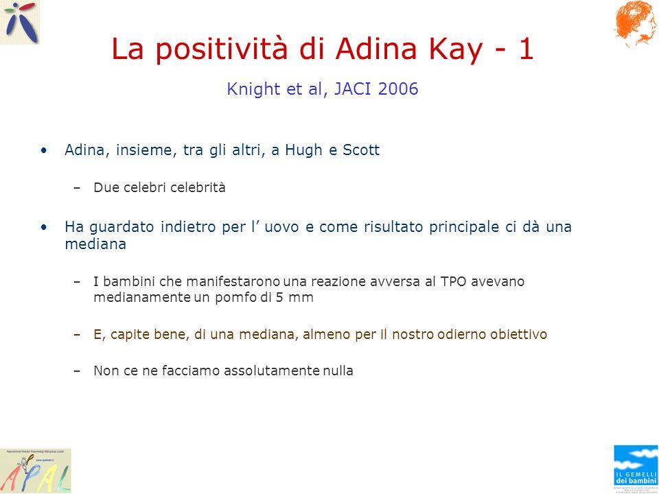 La positività di Adina Kay - 1 Knight et al, JACI 2006