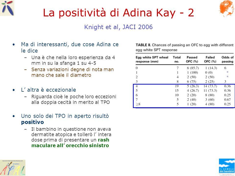 La positività di Adina Kay - 2 Knight et al, JACI 2006