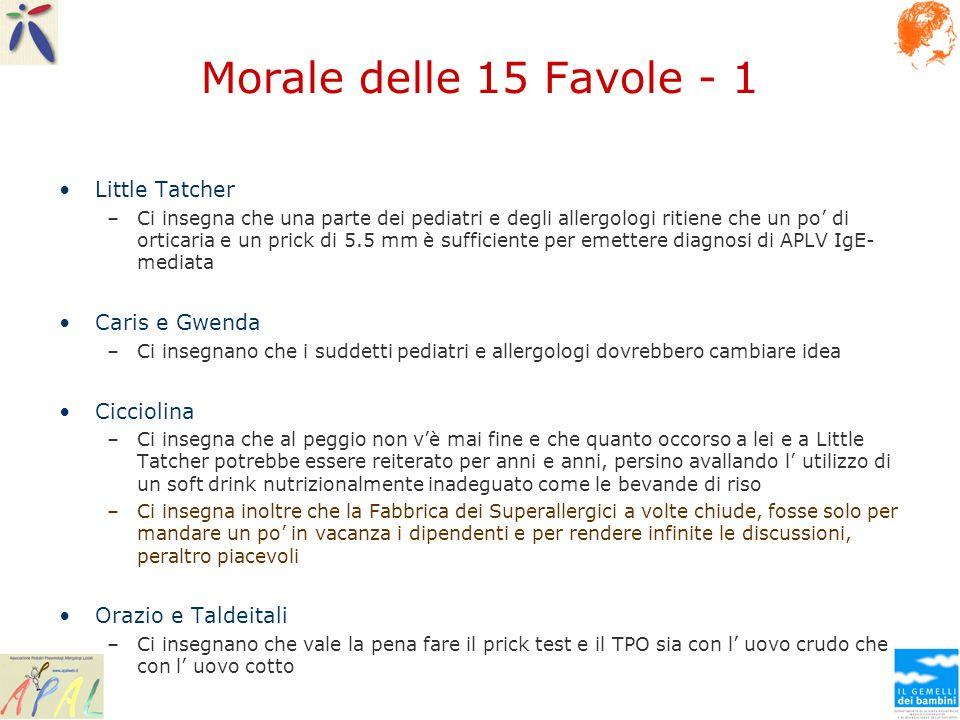 Morale delle 15 Favole - 1 Little Tatcher Caris e Gwenda Cicciolina