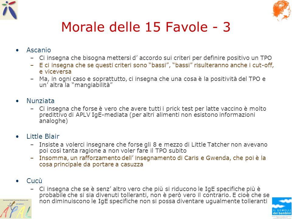 Morale delle 15 Favole - 3 Ascanio Nunziata Little Blair Cucù