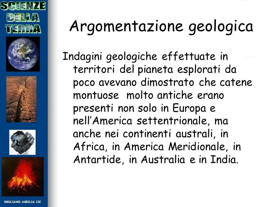 Argomentazione geologica