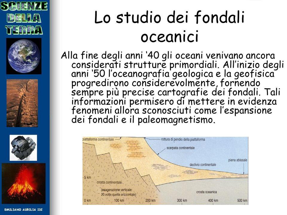 Lo studio dei fondali oceanici