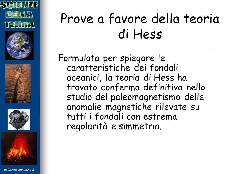 Prove a favore della teoria di Hess