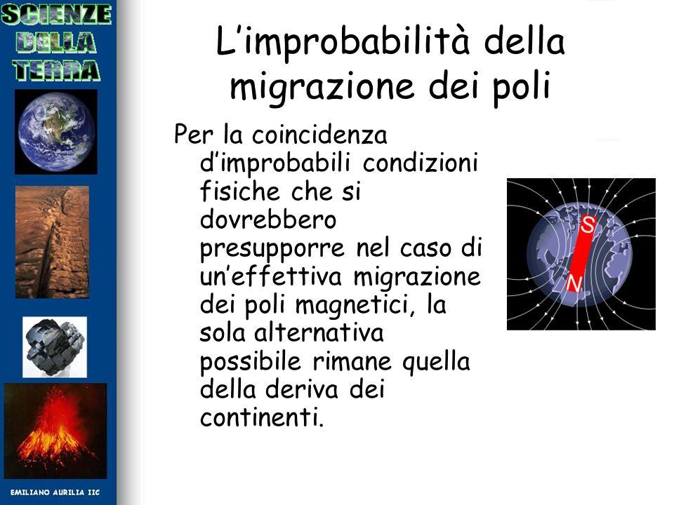 L'improbabilità della migrazione dei poli