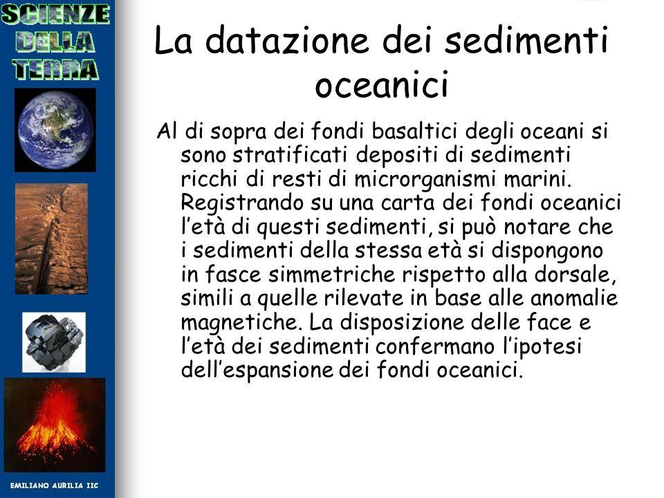 La datazione dei sedimenti oceanici