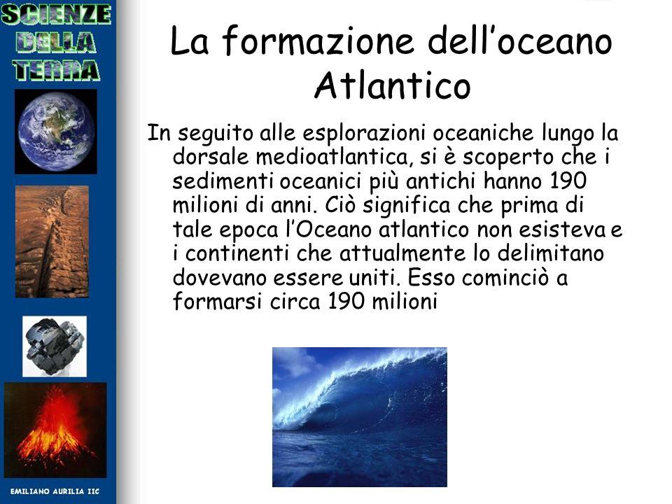 La formazione dell'oceano Atlantico