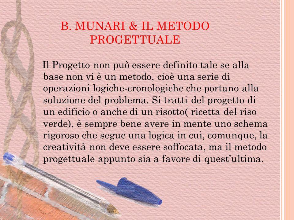 B. MUNARI & IL METODO PROGETTUALE