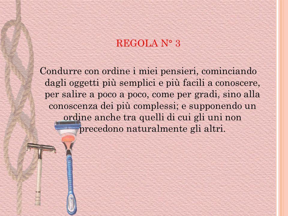 REGOLA N° 3