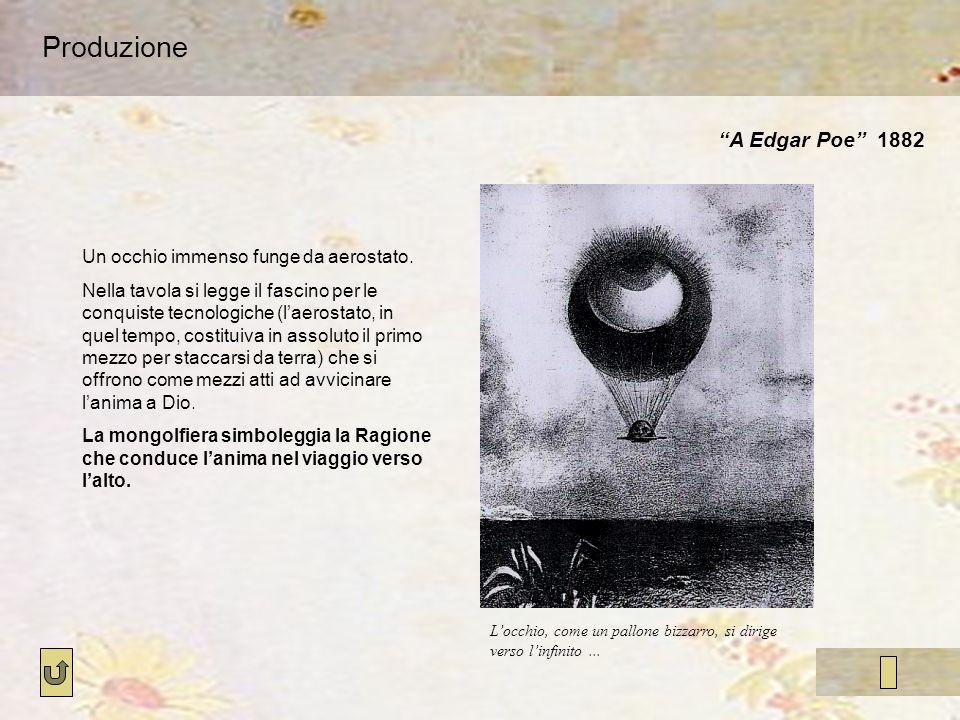 Produzione A Edgar Poe 1882 Un occhio immenso funge da aerostato.