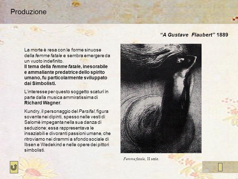 Produzione A Gustave Flaubert 1889