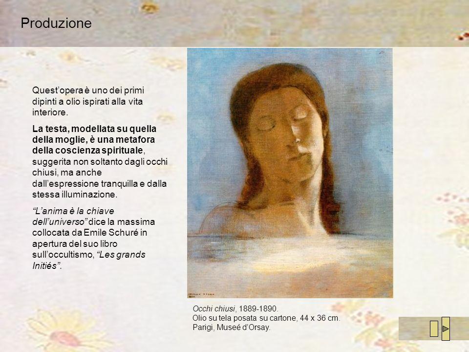 Produzione Quest'opera è uno dei primi dipinti a olio ispirati alla vita interiore.