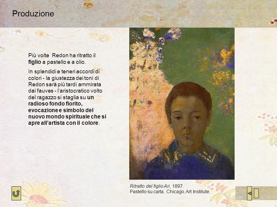 Produzione Più volte Redon ha ritratto il figlio a pastello e a olio.