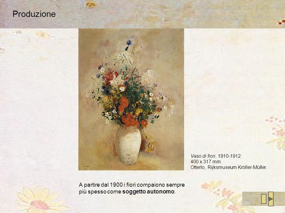 Produzione Vaso di fiori, 1910-1912. 400 x 317 mm. Otterlo, Rijksmuseum Kröller-Müller.