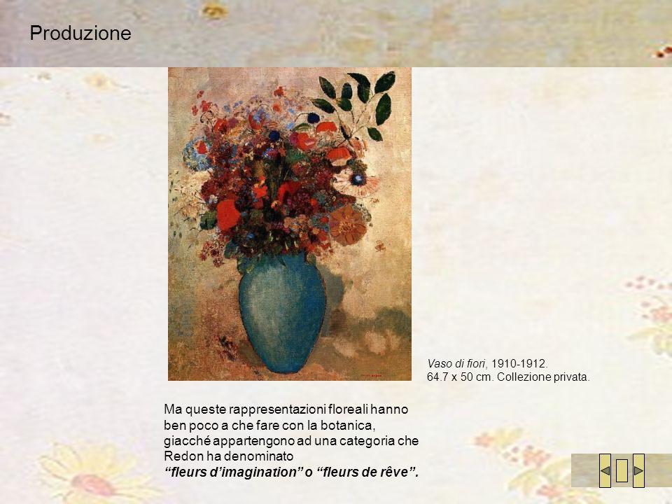 Produzione Vaso di fiori, 1910-1912. 64.7 x 50 cm. Collezione privata.