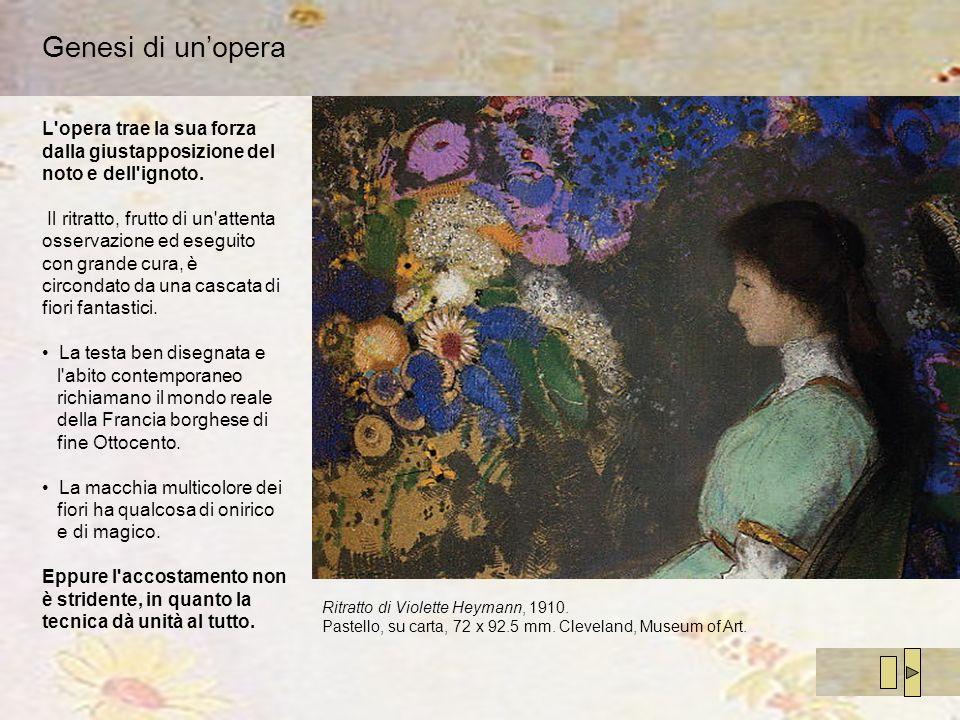 Genesi di un'opera L opera trae la sua forza dalla giustapposizione del noto e dell ignoto.