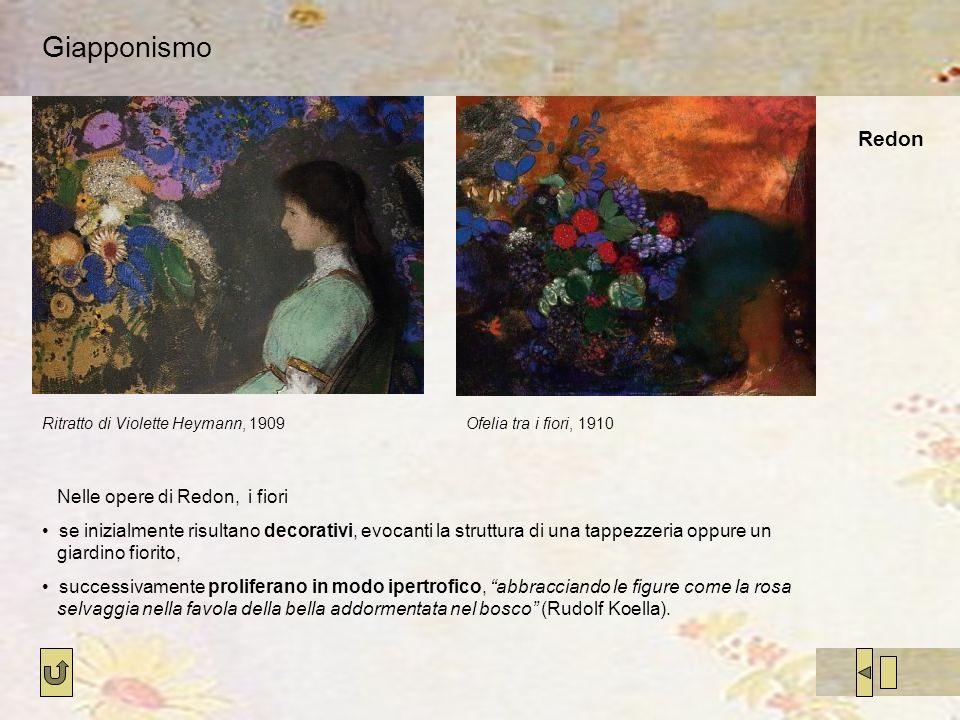 Giapponismo Redon Nelle opere di Redon, i fiori