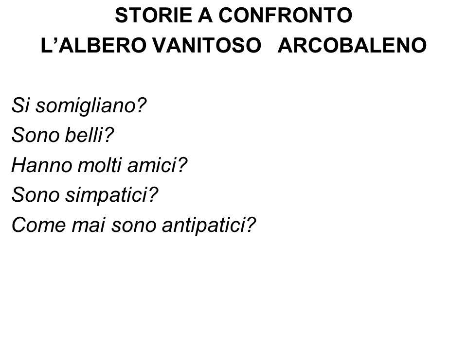 L'ALBERO VANITOSO ARCOBALENO