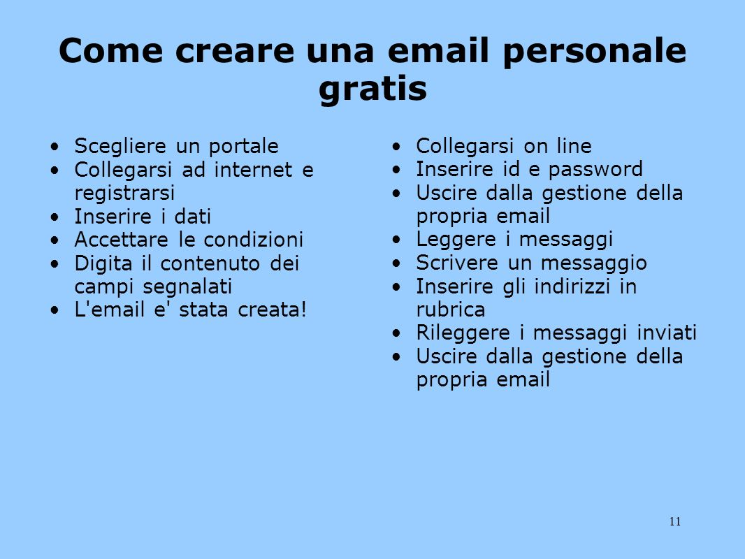 Come creare una email personale gratis