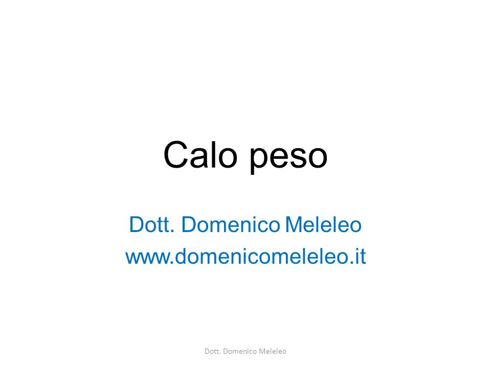 Dott. Domenico Meleleo www.domenicomeleleo.it