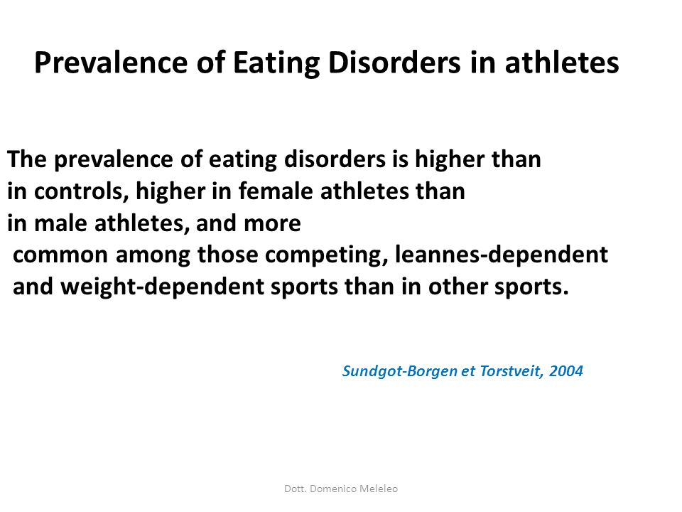 Prevalence of Eating Disorders in athletes
