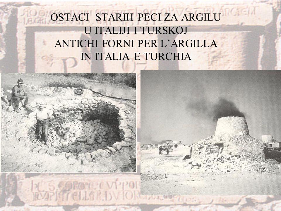OSTACI STARIH PECI ZA ARGILU U ITALIJI I TURSKOJ ANTICHI FORNI PER L'ARGILLA IN ITALIA E TURCHIA