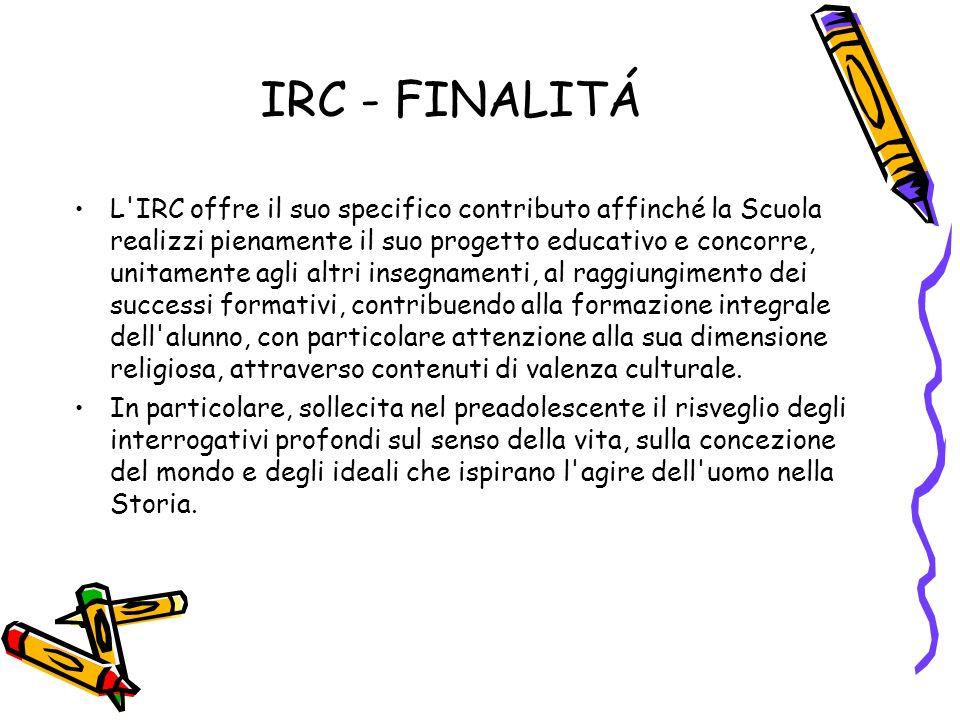 IRC - FINALITÁ