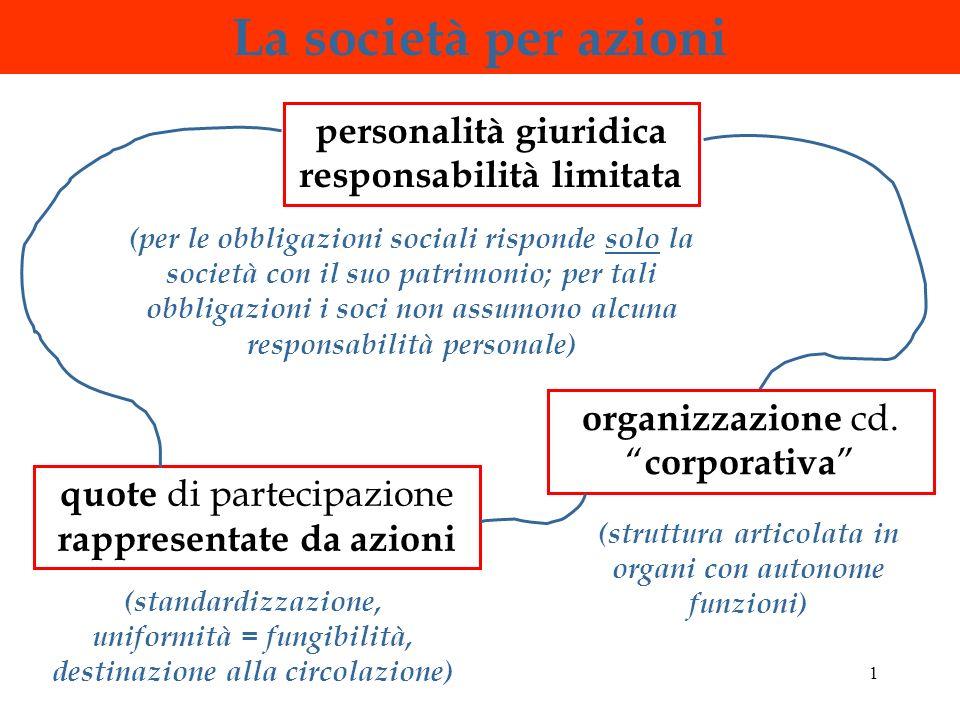 La società per azioni personalità giuridica responsabilità limitata
