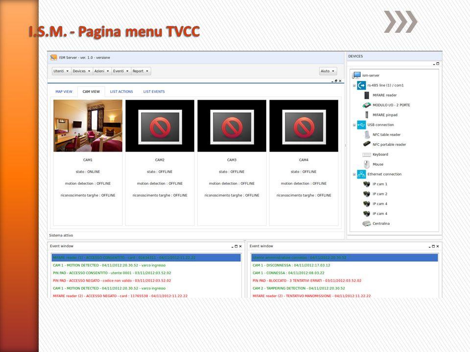 I.S.M. - Pagina menu TVCC