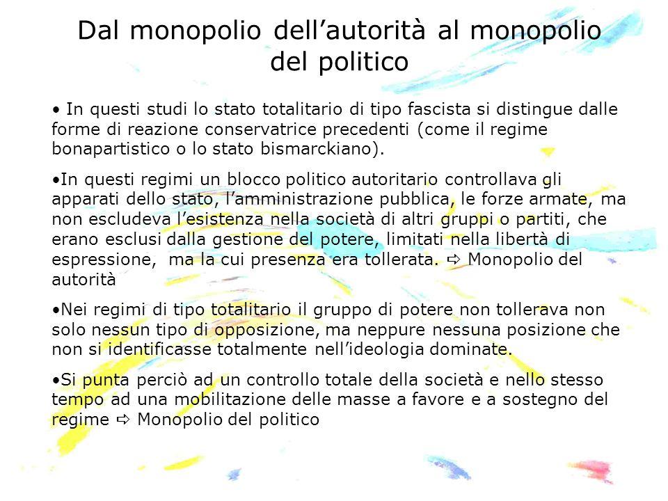 Dal monopolio dell'autorità al monopolio del politico