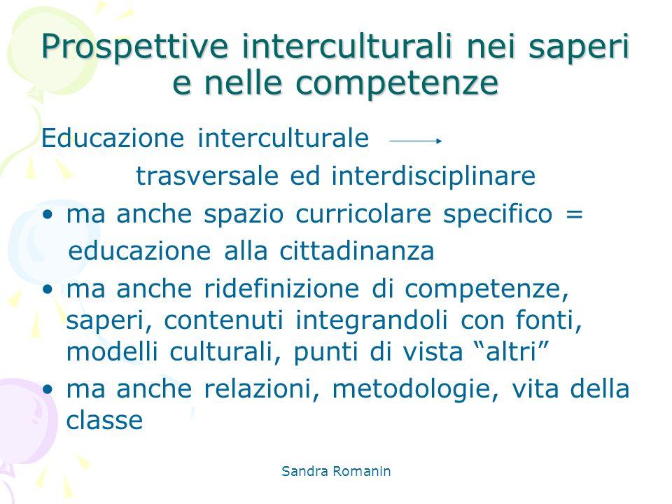 Prospettive interculturali nei saperi e nelle competenze
