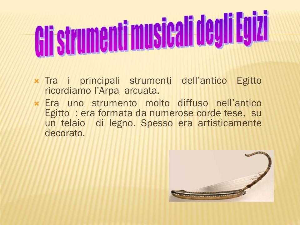 Gli strumenti musicali degli Egizi
