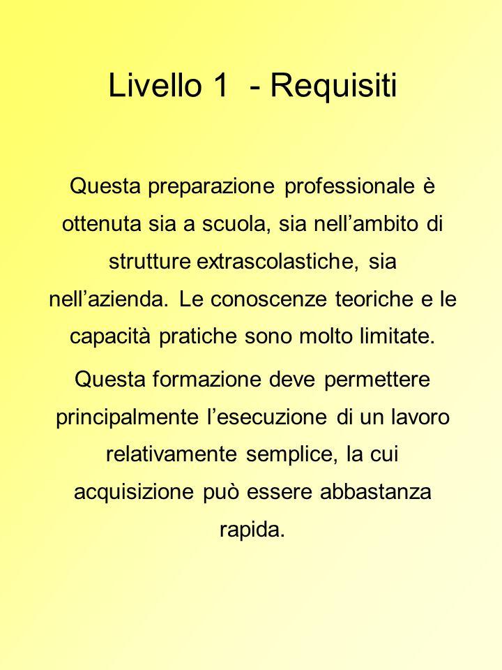 Livello 1 - Requisiti