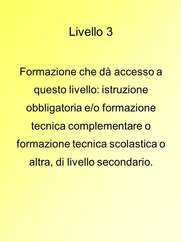 Livello 3