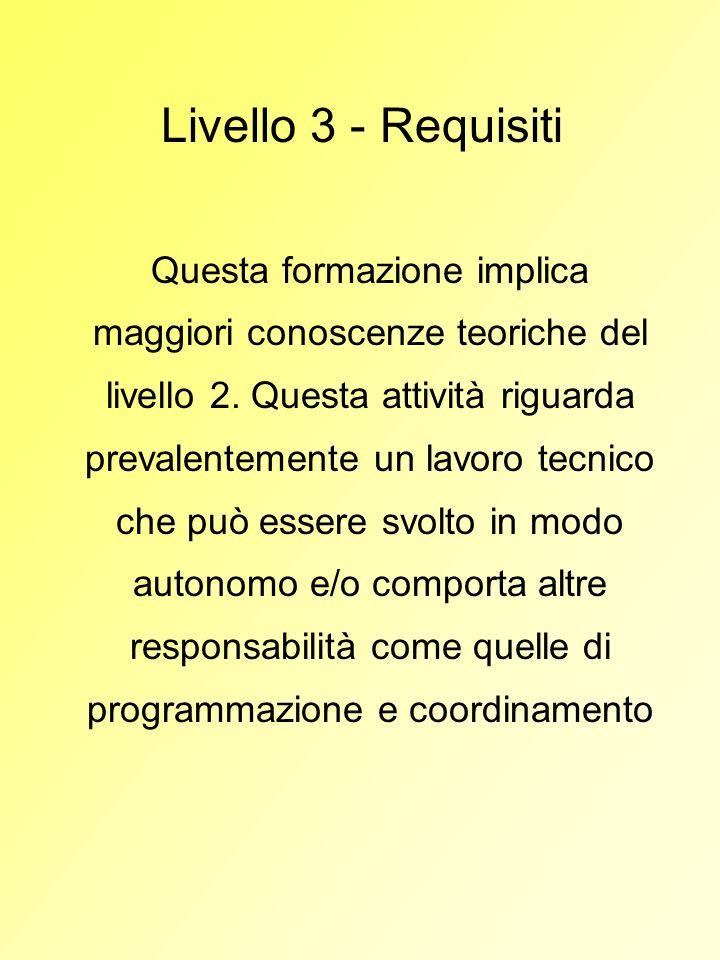 Livello 3 - Requisiti