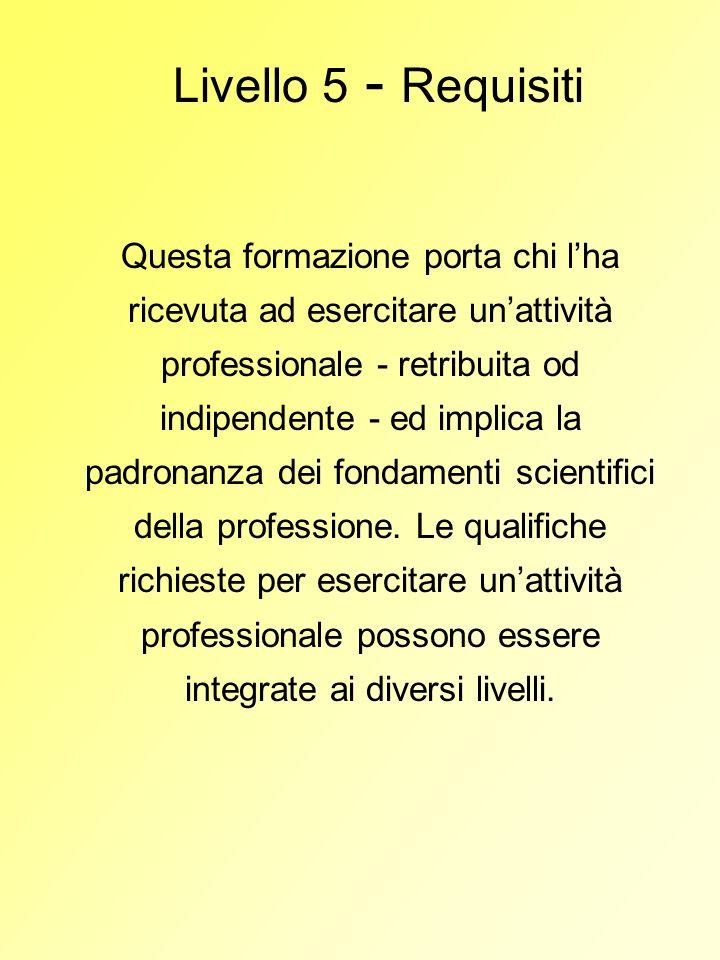 Livello 5 - Requisiti