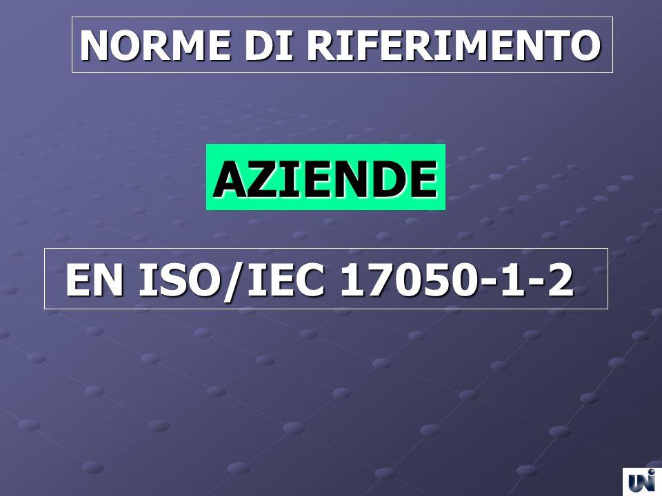 NORME DI RIFERIMENTO AZIENDE EN ISO/IEC 17050-1-2