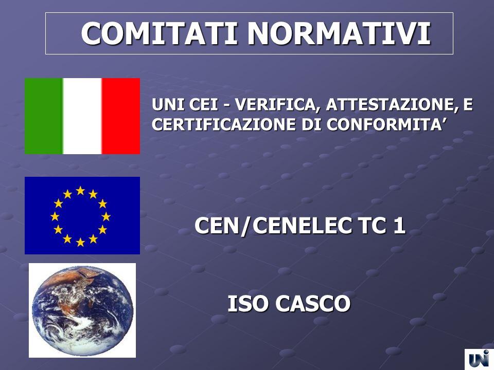 COMITATI NORMATIVI CEN/CENELEC TC 1 ISO CASCO