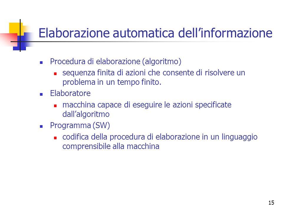 Elaborazione automatica dell'informazione