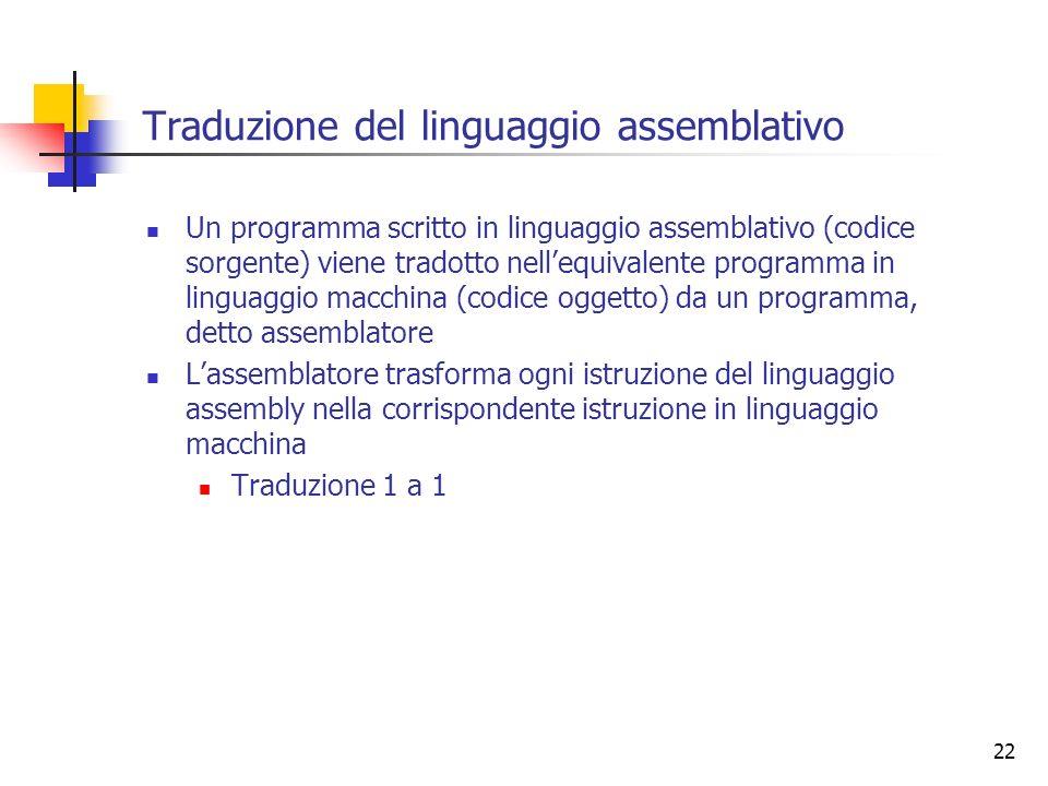Traduzione del linguaggio assemblativo