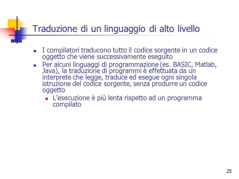 Traduzione di un linguaggio di alto livello