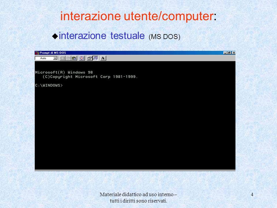 interazione utente/computer: